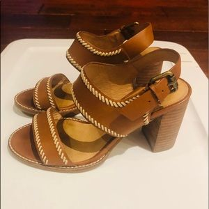 Madewell Shoes - Madewell The Cora Stitched Sandals 6 G4979 Heels